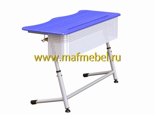 premera-2r-perfo-sinyaya-dvuhmestnaya-parta-s-perforatsiey-i-polochkoy