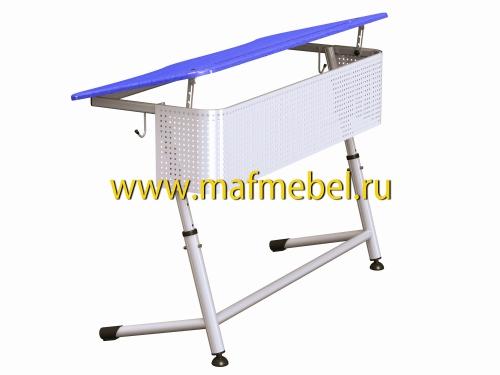 premera-2r-perfo-sinyaya-dvuhmestnaya-parta-s-perforirovannym-ekranom-i-uglom-naklona-stoleshnitsy
