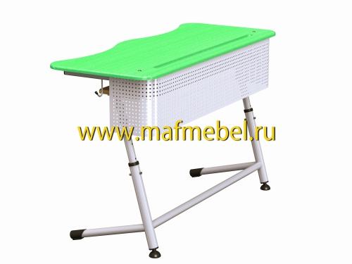 premera-2r-perfo-zelyonaya-dvuhmestnaya-parta-s-perforatsiey-i-polochkoy
